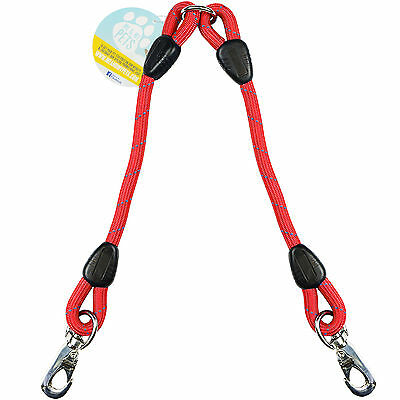 Me & My Red Rope Twin/2 Way Double Dog Lead Splitter/Coupler/Extender Two Dogs