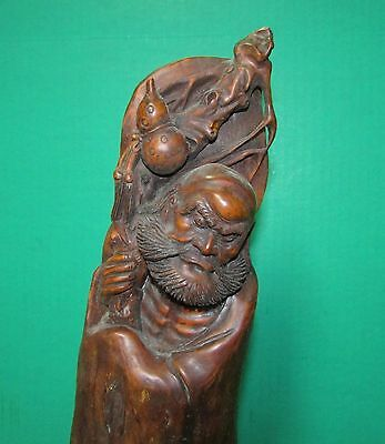 Fine Antique Chinese Rootwood Carving Sculpture of Man