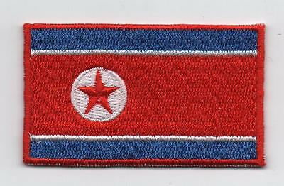 Embroidered NORTH KOREA Flag Iron on Sew on Patch Badge HIGH QUALITY APPLIQUE