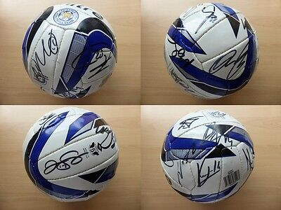 Leicester City Squad Signed Official Football - Kante Simpson Drinkwater (8235)
