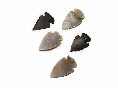 5 x Genuine handmade Indian flint knapped arrowhead - craft, jewellery, unusual