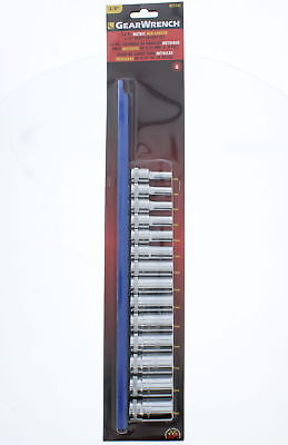 """GearWrench 80554S 14 Piece 3/8"""" Drive Metric 6 Point Mid Length Socket Set"""