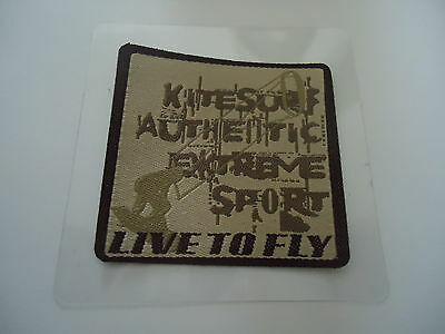 """ECUSSON - APPLICATION - THERMOCOLLANT - inscription """" LIVE TO FLY """" -"""