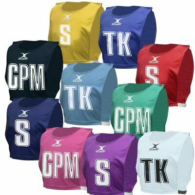 NEW Gilbert Netball Bibs - Set of 7 Cheap Netball bibs - M L XL Various Colours