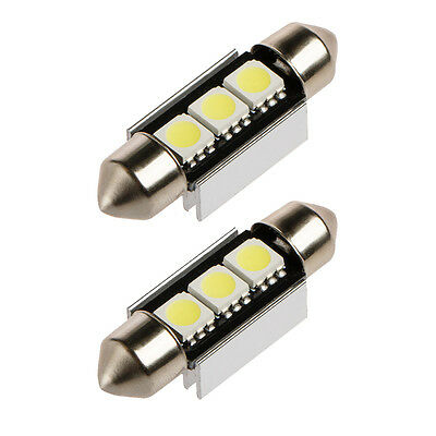 2x LED Canbus Soffitte 36mm 3 5050 SMD c10w weiß Innenraum Soffite Beleuchtung