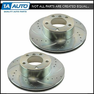 Nakamoto Brake Rotor Driver /& Passenger Side Front Pair 321MM for Audi A4 A6 S4