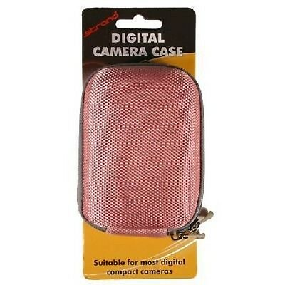 Digital Camera Hard Case Bag with Strap and Belt Clip - Pink