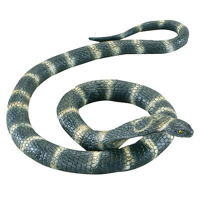 HUGE COBRA RUBBER SNAKE #1.4m LONG WILD REPTILE HALLOWEEN PROP FANCY DRESS