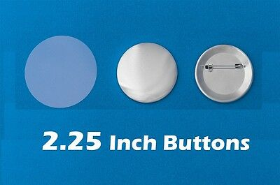 """100 Button Badge Making Parts / 2.25 inch machine Mylar Shell & Back Pins 2 1/4"""""""