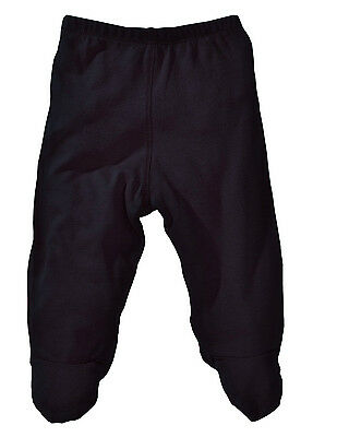 NEW 100% Organic Cotton Baby Footed Pants - Black 0-3 months Footie Style