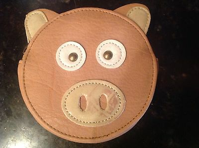 Mundi Pocket Zippered Coin Purse Pig  Peach  Round  Nwt