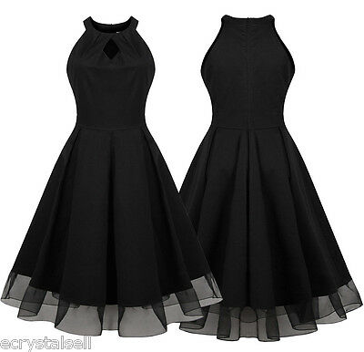 Vintage Style 50s 60s Rockabilly Retro Swing Pinup Housewife Evening Party Dress