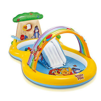 INTEX Kids Inflatable Winnie the Pooh Water Play Paddling Pool Centre #57136