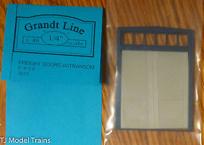 """Grandt Line O #3618 (1:48 Scale) Freight Doors w/Transom 6'x6'8"""" (Plastic Parts)"""