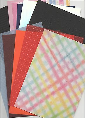 Assortment of A4 Backing Paper/Card Patterned/Embossed/Vellum Free 1st class p/p
