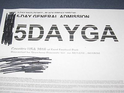Country USA GA 5-Day Ticket