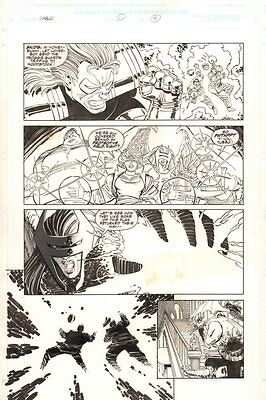 Cable - Blood and Metal #1 p.11 - Lots of Characters 1992 art by John Romita Jr.