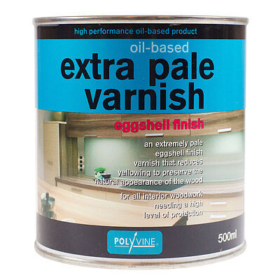 Polyvine : Extra Pale Eggshell Oil Varnish : 500 ml