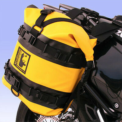 Wolfman Luggage Expedition Dry Saddle Bags Pair Yellow Black For All Racks NEW
