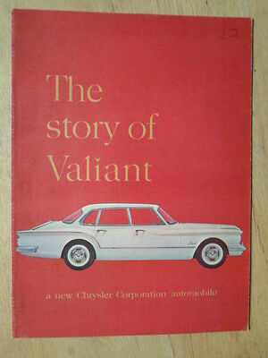 CHRYSLER VALIANT 1959-61 USA Mkt Sales Brochure - The Story of - Plymouth