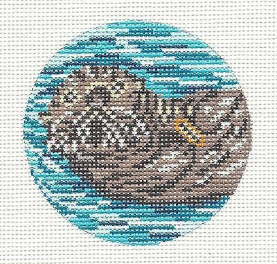 Valentine/'s Day Otter Wall Hanging-Plastic Canvas Pattern or Kit