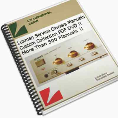 LUXMAN SERVICE OWNERS Schematics Manuals Mega Collection