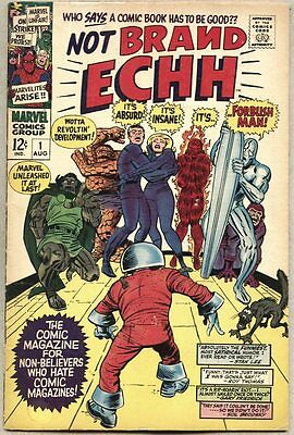 Not Brand Echh #1-1967 fn- Jack Kirby Silver Surfer Fantastic Four