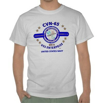 "Uss Enterprise (Cvn-65) "" Big  E "" U.s.navy Emblem Shirt (Front)"