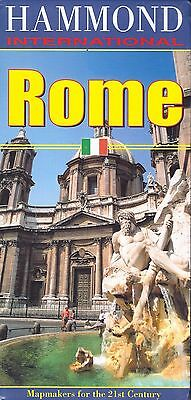 Map of Rome, Italy, by Hammond Maps, fully Index, large sheet map, great map!!