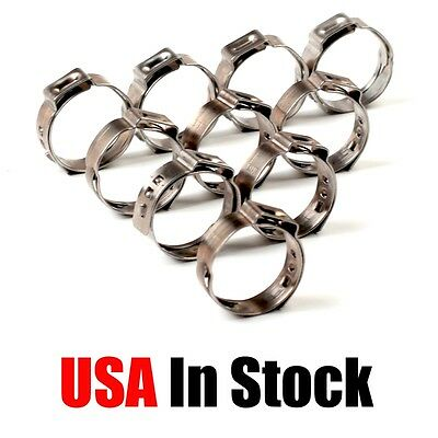 PEX 304 Stainless Steel Clamp Cinch Rings Crimp Pinch Fittings 100 PCs 3/4''