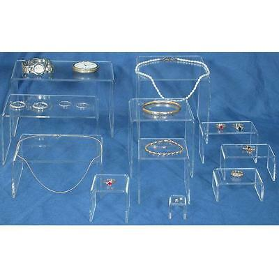 11 Acrylic Jewelry Risers Clear Display Set FindingKing