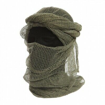 Cheche Filet  Vert Kaki Od Armee Militaire Echarpe Camouflage Chasse Camping Ls