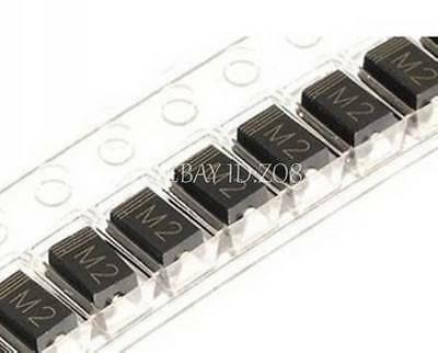 500PCS 1N4002 IN4002 M2 1A/100V SMA DO-214AC SMD Rectifier Diode NEW