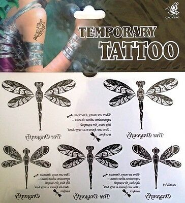 Temporary Tattoo Dragonfly Stickers Body Art