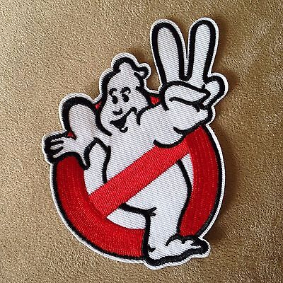 """4""""GHOSTBUSTERS II 2 Movie No Ghost Iron-on Uniform Logo PATCH Cosplay/Peace Sign"""