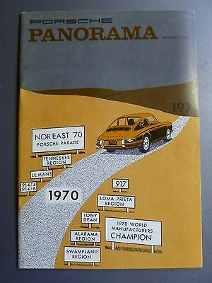 1971 Porsche PCA Panorama Magazine January 1971 RARE!! Awesome L@@K