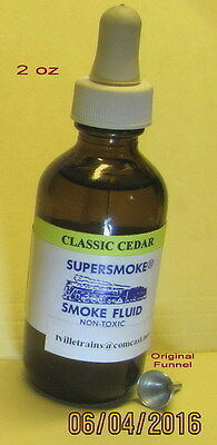 """SUPERSMOKE®"" Smoke Fluid for American Flyer (2oz) w/Dropper & Orig Funnel (NEW)"