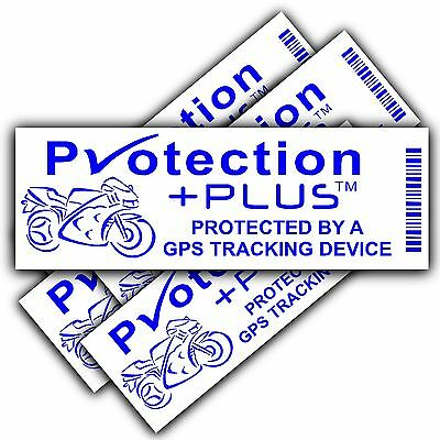 Motorbike Security Stickers-GPS,Tracker Device-Motorcycle Bike Warning Tracking
