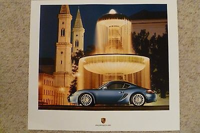 2006 Porsche Cayman Coupe Showroom Advertising Sales Poster RARE!! Awesome L@@K