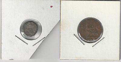 xx From Accumulation - 2 OLD UNKNOWN COINS from INDIA