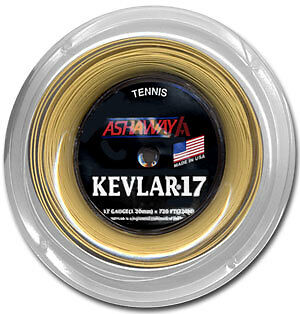 Ashaway Kevlar Tennis String  Reel - 16, 17, 18  Gauge 360' ** Pick The Gauge