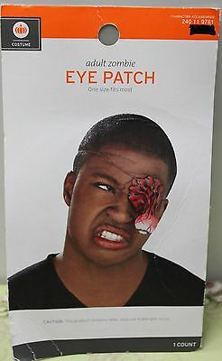 ADULT ZOMBIE DANGLING EYE PATCH Blood Gore Prosthetic Latex Horror Gross NEW