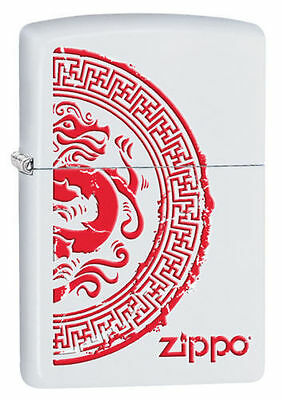 Zippo Windproof Lighter With Dragon Stamp or Seal, 28855, New In Box