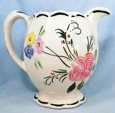 Blue Ridge Southern Potteries Suwanee Grace Pitcher Vintage Flowers As Is
