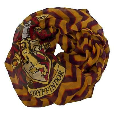 Harry Potter Gryffindor House Hogwarts Lightweight Infinity Scarf Stripes