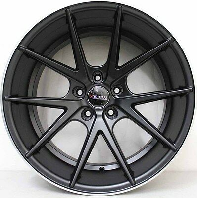 20 inch Genuine VERSUS TALON MATT  BLACK WIDE PACK ALLOY WHEELS  WITH NEW TYRES