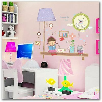 Kids Rooms Wall Clock Vinyl Decals/Wall Poster 80*92cm