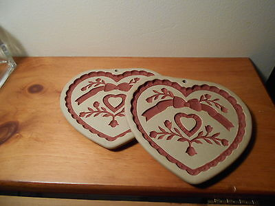 """Pampered Chef set of 2 Sweet Heart Trivets     6"""" x 5 1/2"""""""