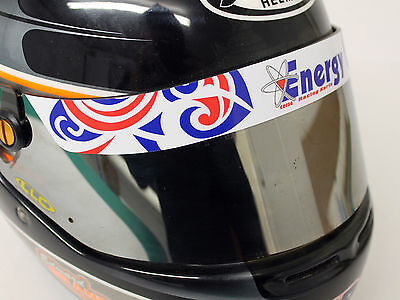 Energy Helmet Visor Sticker/strip - Karting