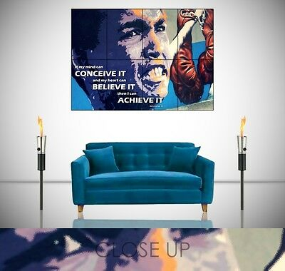 Muhammad Ali Conceive Achieve Believe Gym Boxing Motivational Giant Poster Print